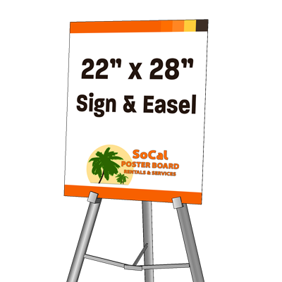 "22"" x 28"" Sign and Easel"