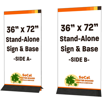 "36"" x 72"" Stand-alone Sign and Base"