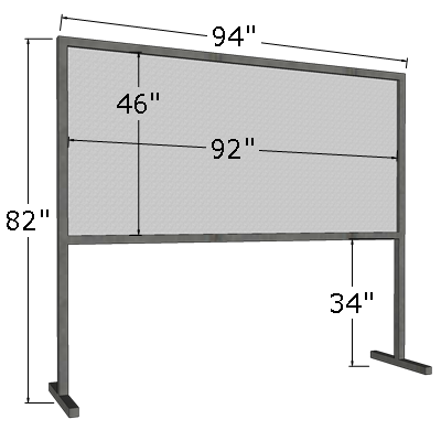 4' x 8' Horizontal Poster Board